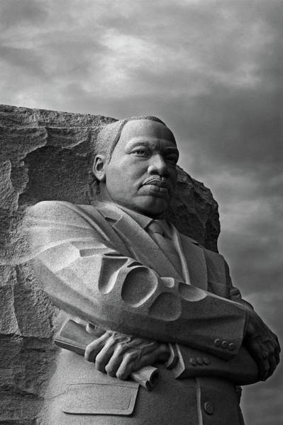 Wall Art - Photograph - Martin Luther King Jr Monument B And W by Maria Keady