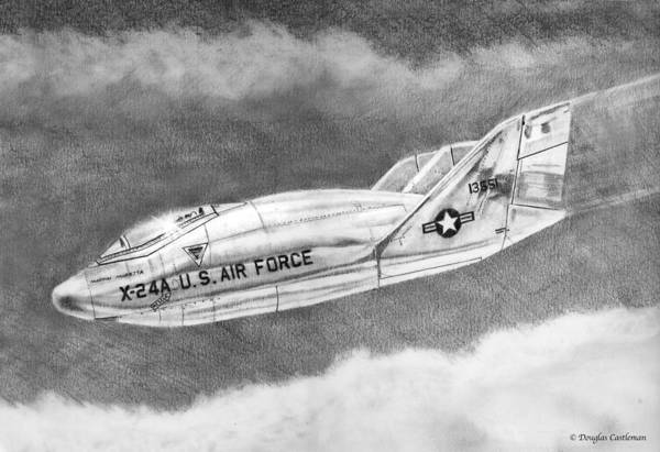Drawing - Martin Marietta X-24a Lifting Body by Douglas Castleman