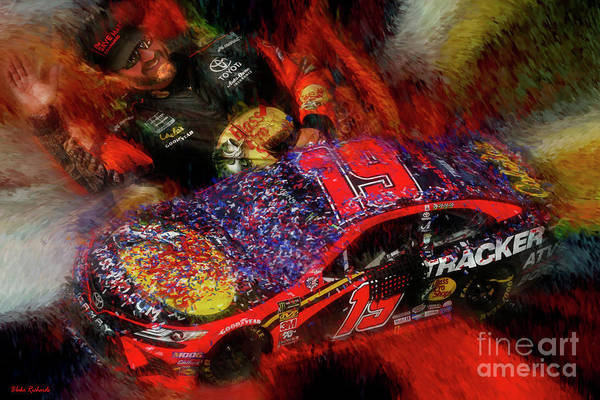 Photograph - Martin Truex Jr 2019 Winning Toyota by Blake Richards