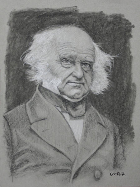 Drawing - Martin Van Buren by Todd Cooper