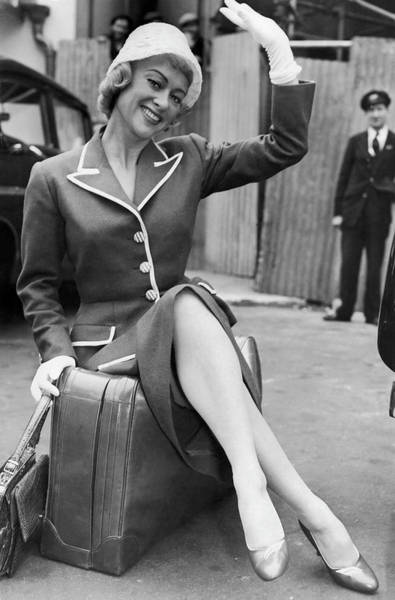 Arrival Photograph - Martine Carol In London In 1956 by Keystone-france