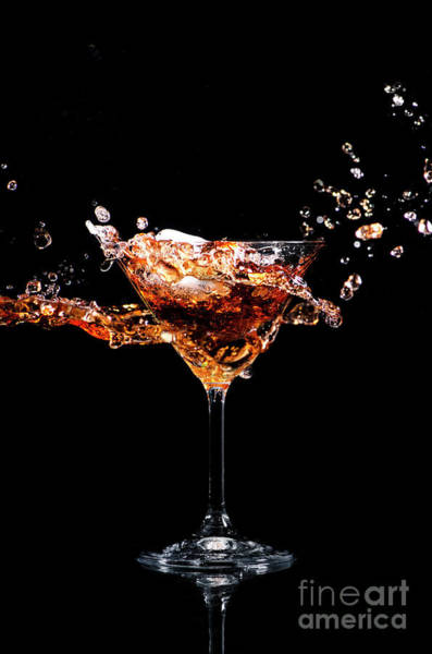 Cocktail Shaker Photograph - Martini Cocktail Splash by Jelena Jovanovic