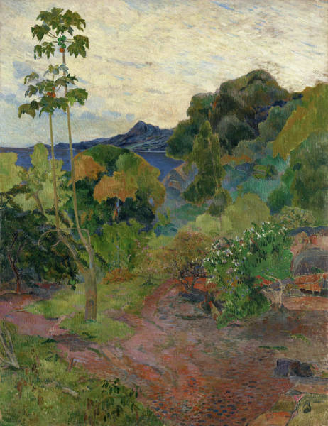 Wall Art - Painting - Martinique Landscape, 1887 by Paul Gauguin