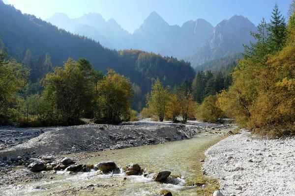 Photograph - Martuljek River - Gozd Martuljek  by Phil Banks