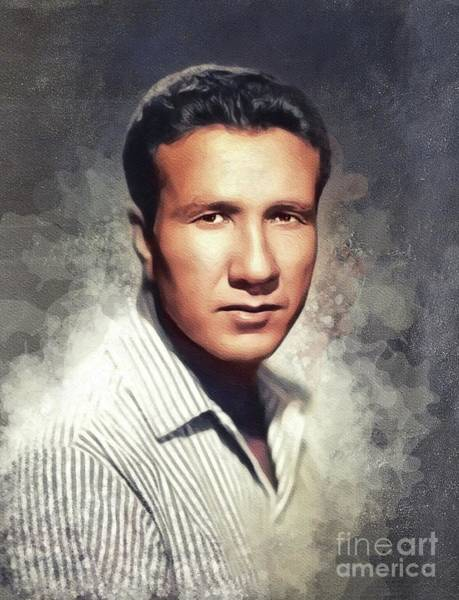 Wall Art - Painting - Marty Robbins, Music Legend by John Springfield