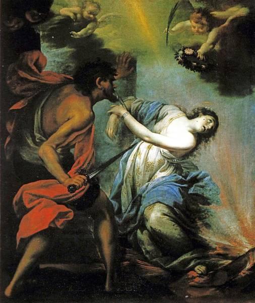 Saint Lucia Painting - Martyrdom Of Saint Lucia  by Giovan Camillo Ciabilli