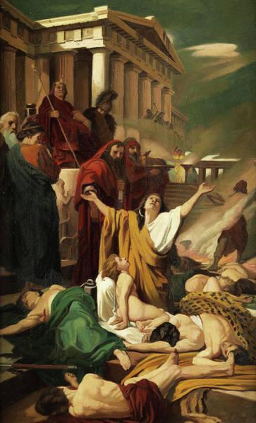 Hebrew Painting - Martyrdom Of The Seven Maccabees by Antonio Ciseri