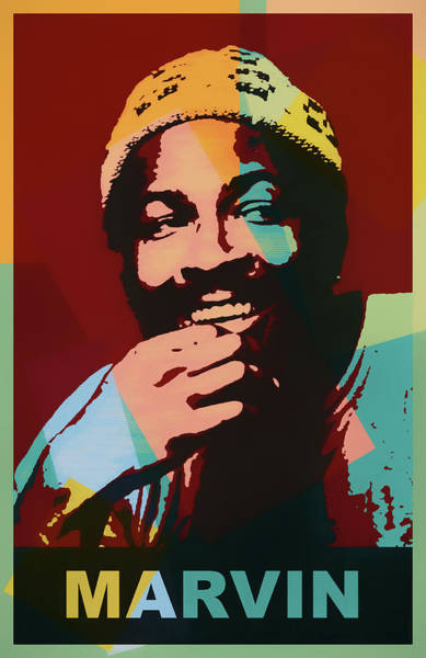 Wall Art - Painting - Marvin Gaye Color Pop by Dan Sproul