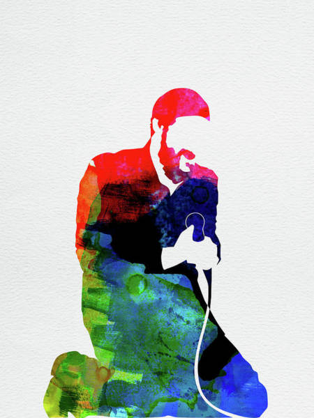 Rock And Roll Mixed Media - Marvin Gaye Watercolor by Naxart Studio