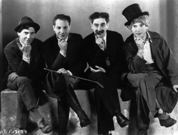Humor In Art And Photograph - Marx Brothers by General Photographic Agency