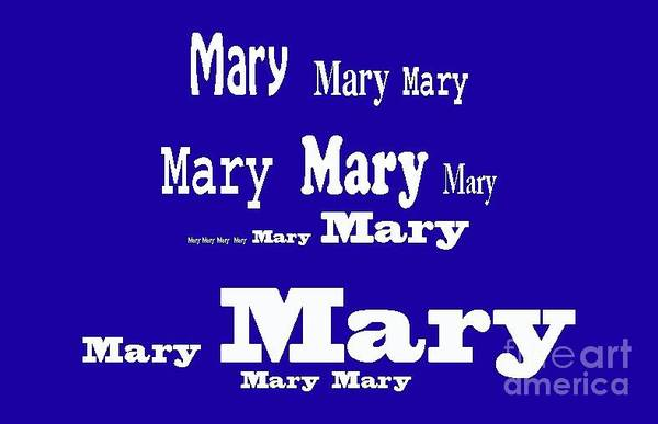 Digital Art - Mary 5 by Corinne Carroll