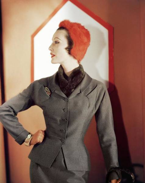 Photograph - Mary Jane Russell In Adele Simpson by Horst P. Horst