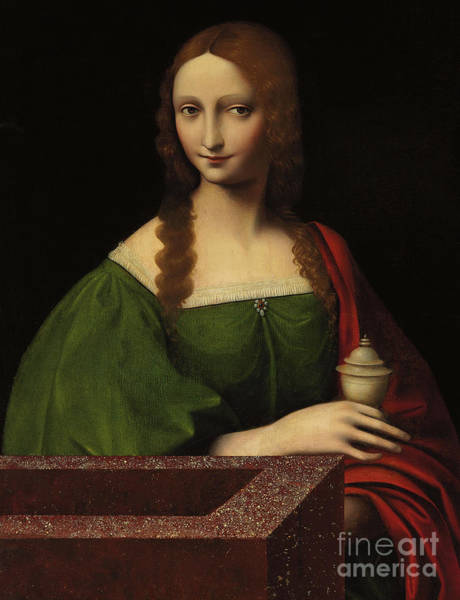 Wall Art - Painting - Mary Magdalene by Giovanni Pietro Rizzoli Giampietrino