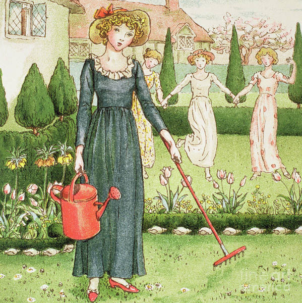 Wall Art - Painting - Mary, Mary, Quite Contrary by Kate Greenaway