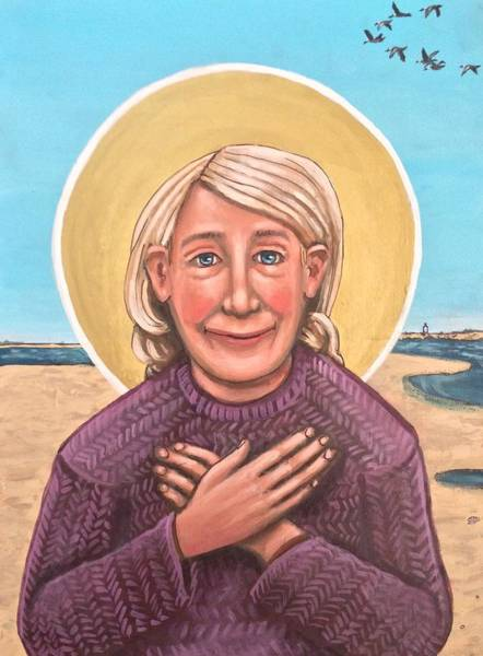 Painting - Mary Oliver by Kelly Latimore