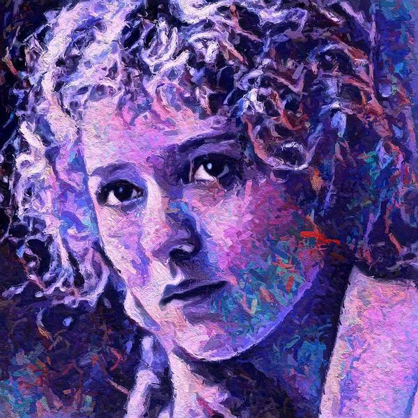 Wall Art - Painting - Mary Pickford by Steve K