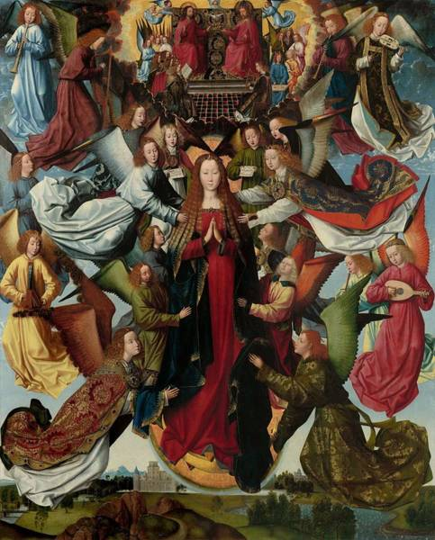 Wall Art - Painting - Mary  Queen Of Heaven  by Master of the St Lucy Legend
