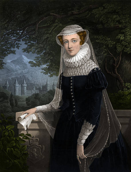 Painting - Mary, Queen Of Scots by Science Source