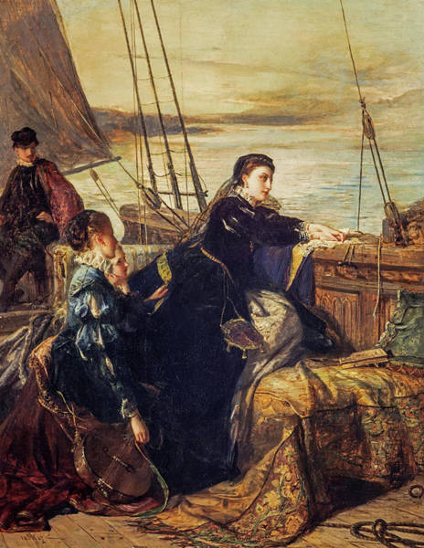Mary, Queen Of Scots - The Farewell To France, 1867  Art Print