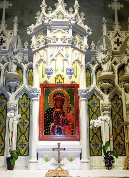 Photograph - Mary Shrine At Saint Patrick's Cathedral In New York City by John Rizzuto