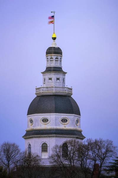 Wall Art - Photograph - Maryland State House by Robert Fawcett