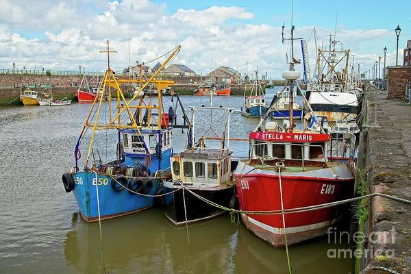 Photograph - Maryport Fishing Boats Cumbria by Martyn Arnold