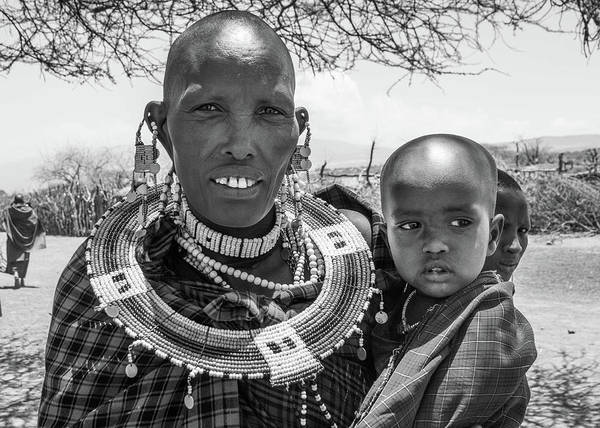 Photograph - Masaai Mother And Child by Mache Del Campo