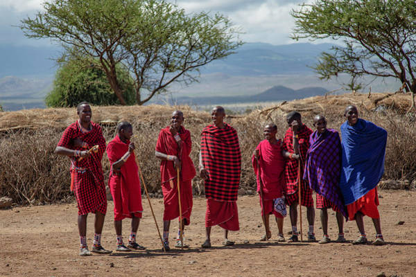 Photograph - Maasai Men by Thomas Kallmeyer