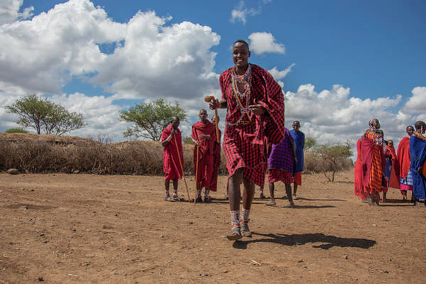 Photograph - Maasai Welcome by Thomas Kallmeyer