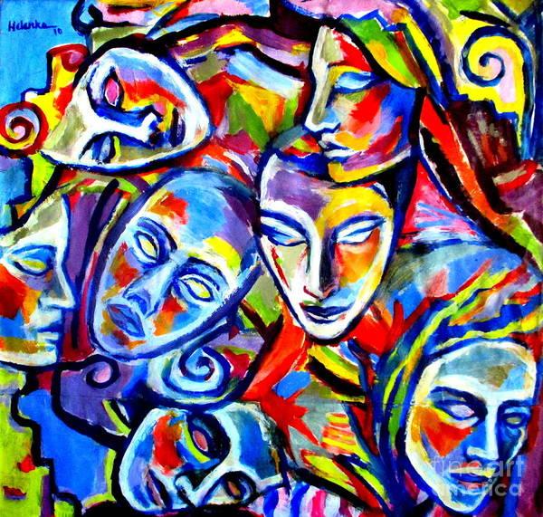 Painting - Mascarade by Helena Wierzbicki