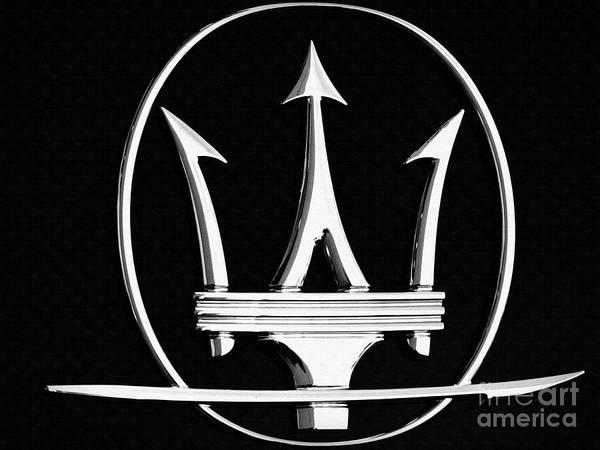 Wall Art - Photograph - Maserati's Trident Badge by Stefano Senise