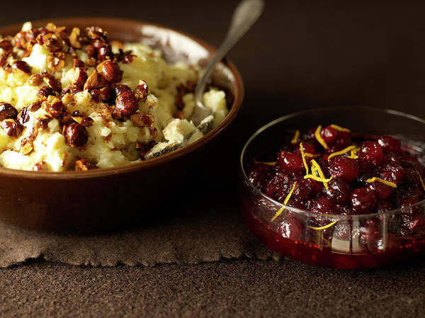 Potato Photograph - Mashed Potatoes With Cranberry Side by James Baigrie