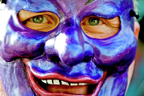 Louisiana Photograph - Mask At New Orleans Mardi Gras Parade by Ray Laskowitz