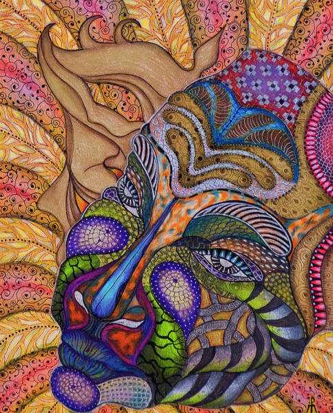 Painting - Mask by Ellie Perla