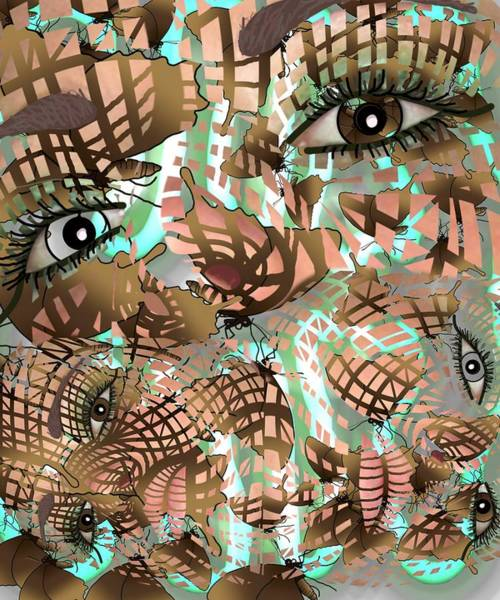 Mixed Media - Mask Past Present Future by Joan Stratton