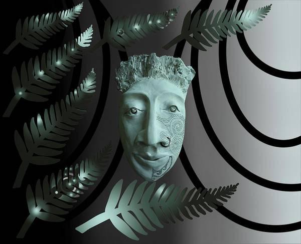 Mask The Maori Warrior Art Print