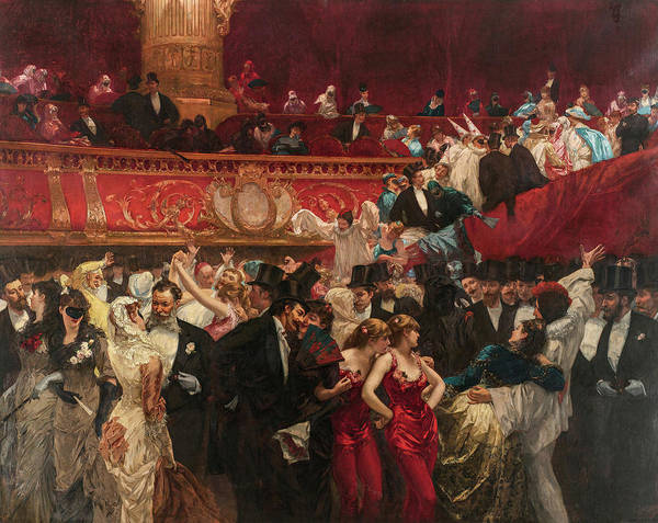 Opera Singer Painting - Masked Ball, 19th Century by Charles Hermans