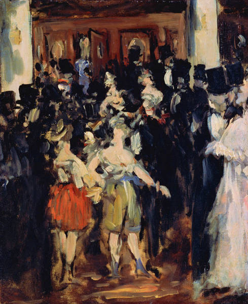 Manet Wall Art - Painting - Masked Ball At The Opera - Digital Remastered Edition by Edouard Manet