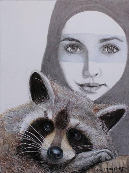 Drawing - Masks by Tim Ernst