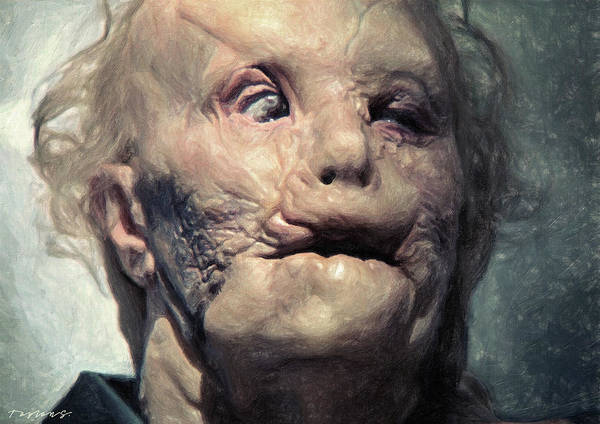 Serial Killer Painting - Mason Verger by Zapista Zapista