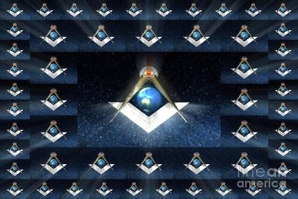 Wall Art - Painting - Masonic World by Pierre Blanchard