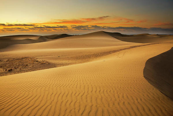 Dawn Photograph - Maspalomas Dune Dawn by Alex Bramwell