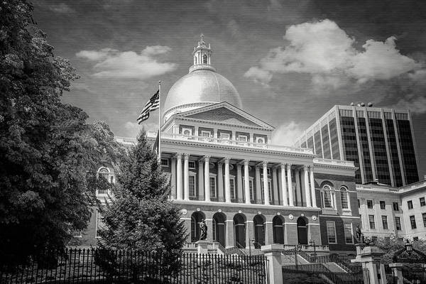 Wall Art - Photograph - Massachusetts State House Boston Black And White by Carol Japp