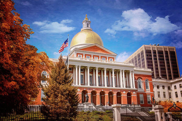 Wall Art - Photograph - Massachusetts State House Boston  by Carol Japp