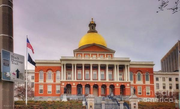 Photograph - Massachusetts State House by Mary Capriole