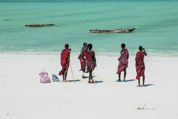 Photograph - Massai At The Beach by Mache Del Campo