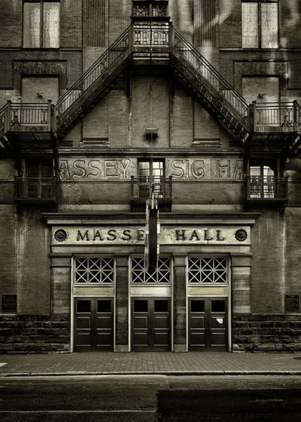Photograph - Massey Hall No 1 Toned Version by Brian Carson