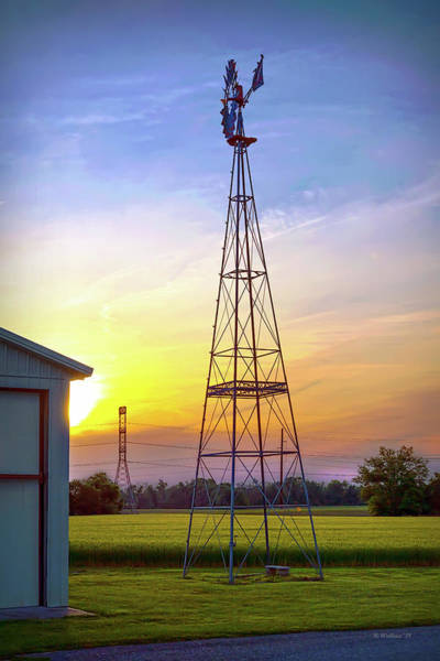 Wall Art - Photograph - Massey Wind Tower Silhouette by Brian Wallace