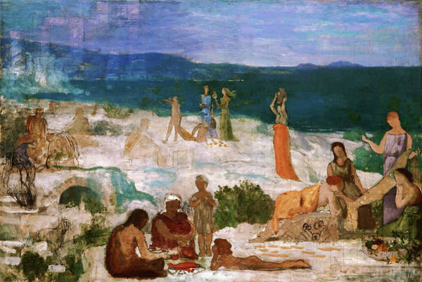 Wall Art - Painting - Massilia, Greek Colony - Digital Remastered Edition by Pierre Puvis de Chavannes