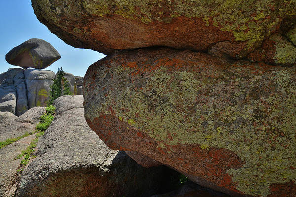 Photograph - Massive Lichen Covered Boulders In Vedauwoo Rocks by Ray Mathis